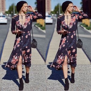 Free People💕Miranda Embroidered Floral Maxi Dress